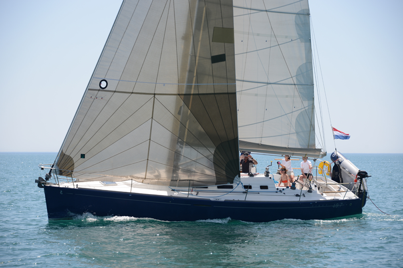 Beneteau First 40.7 Esprit de Corps close-up
