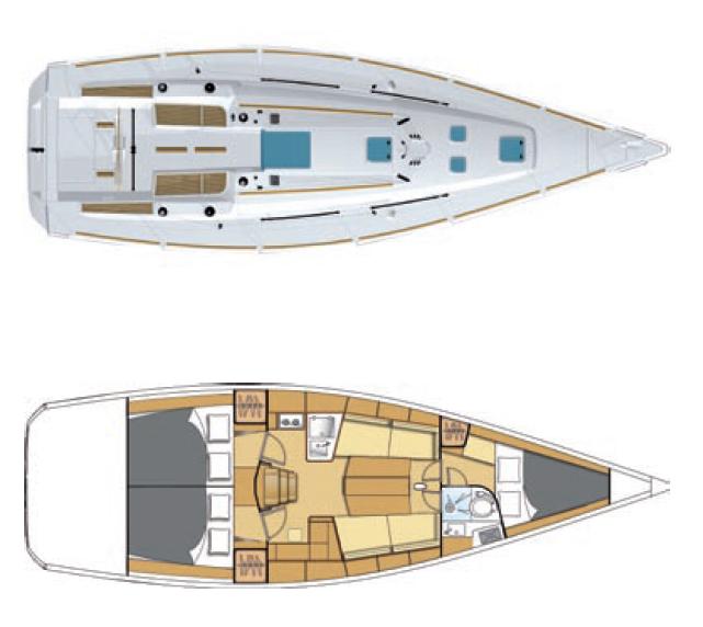 Beneteau First 40CR plan